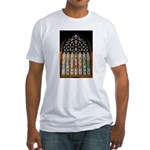 East Stained Glass Window Chr Fitted T-Shirt