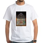East Stained Glass Window Chr White T-Shirt