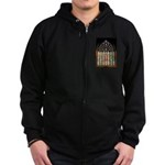 East Stained Glass Window Chr Zip Hoodie (dark)