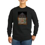 East Stained Glass Window Chr Long Sleeve Dark T-S
