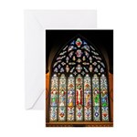 East Stained Glass Window Chr Greeting Cards (Pk o