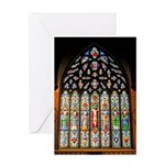 East Stained Glass Window Chr Greeting Card