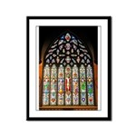 East Stained Glass Window Chr Framed Panel Print