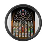 East Stained Glass Window Chr Large Wall Clock