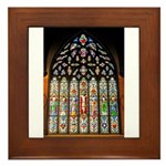 East Stained Glass Window Chr Framed Tile
