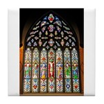 East Stained Glass Window Chr Tile Coaster