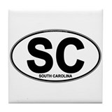 South Carolina Oval (SC) Tile Coaster