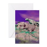 3D Stone Animals Cards (Pk of 10)