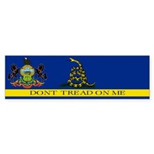 Dont Tread on Me Pennsylvania Bumper Sticker