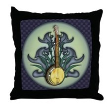 Bluegrass Banjo Throw Pillow