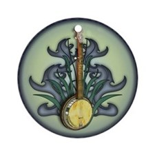 Bluegrass Banjo Ornament (Round)