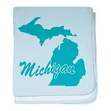 State Michigan Infant Blanket