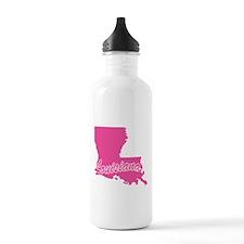 Pink Louisiana Sports Water Bottle
