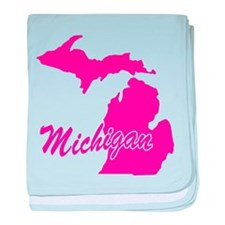 Pink Michigan Infant Blanket