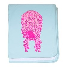 Pink Wig Graphic Infant Blanket