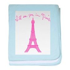 I'll See You in Paris baby blanket