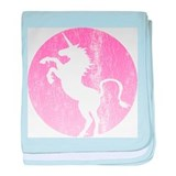 Retro Pink Unicorn Infant Blanket