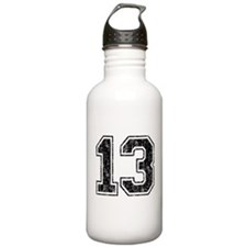 Retro 13 Number Water Bottle