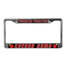 Cherry Bomb License Plate Frame