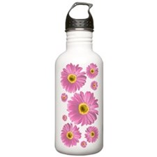 Pop Art Pink Daisy Water Bottle