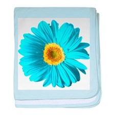 Pop Art Blue Daisy Infant Blanket