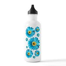 Pop Art Blue Daisy Water Bottle