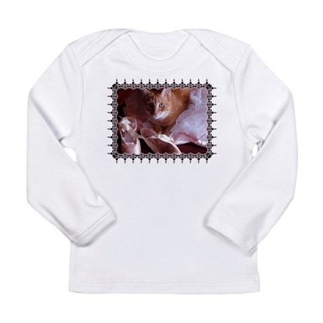 Cat and Ballet Slippers Long Sleeve Infant T-Shirt