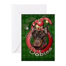 Christmas - Deck the Halls - Dobies Greeting Cards