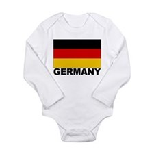Germany Flag Long Sleeve Infant Bodysuit