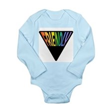 Gay Friendly Rainbow Triangle Long Sleeve Infant B
