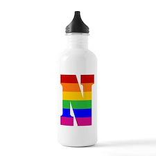 Rainbow Letter N Water Bottle