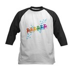 Rainbow Patio Chairs Kids Baseball Jersey