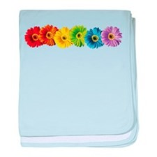 Rainbow Daisies Infant Blanket