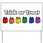 Rainbow Halloween Trick or Tr Yard Sign