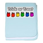 Rainbow Halloween Trick or Tr Infant Blanket
