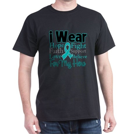 Hero - Ovarian Cancer Dark T-Shirt