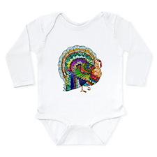 Patchwork Thanksgiving Turkey Long Sleeve Infant B