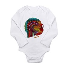 Thanksgiving Jeweled Turkey Long Sleeve Infant Bod