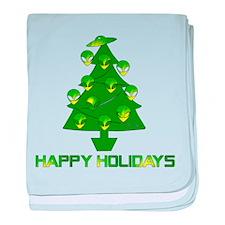 Alien Christmas Tree baby blanket