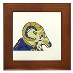 Planet Rams Framed Tile