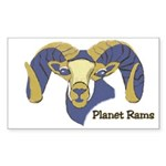 Planet Rams Rectangle Sticker