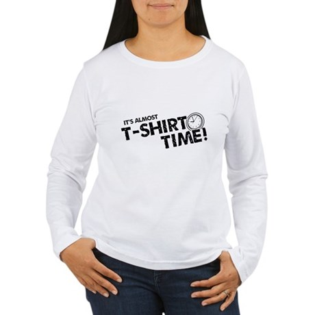 T-Shirt Time Womens Long Sleeve T-Shirt
