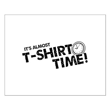 T-Shirt Time Small Poster