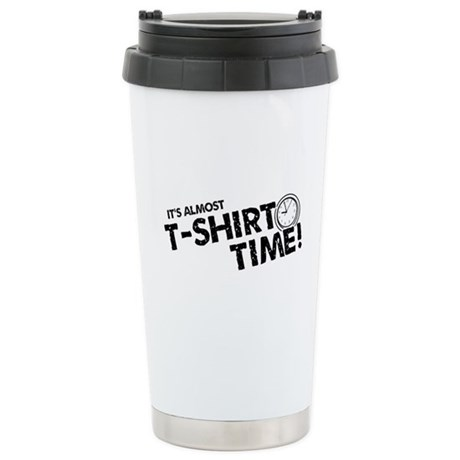 T-Shirt Time Ceramic Travel Mug