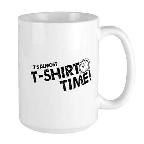 T-Shirt Time Large Mug