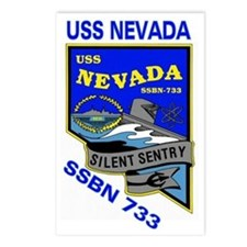 USS Nevada SSBN 733 Postcards (Package of 8)