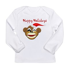 Holiday Chimp! Long Sleeve Infant T-Shirt