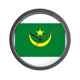 Mauritania Flag Wall Clock