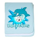 Dolphins Soccer Infant Blanket