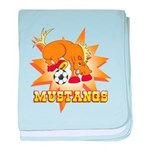 Mustangs Soccer Infant Blanket